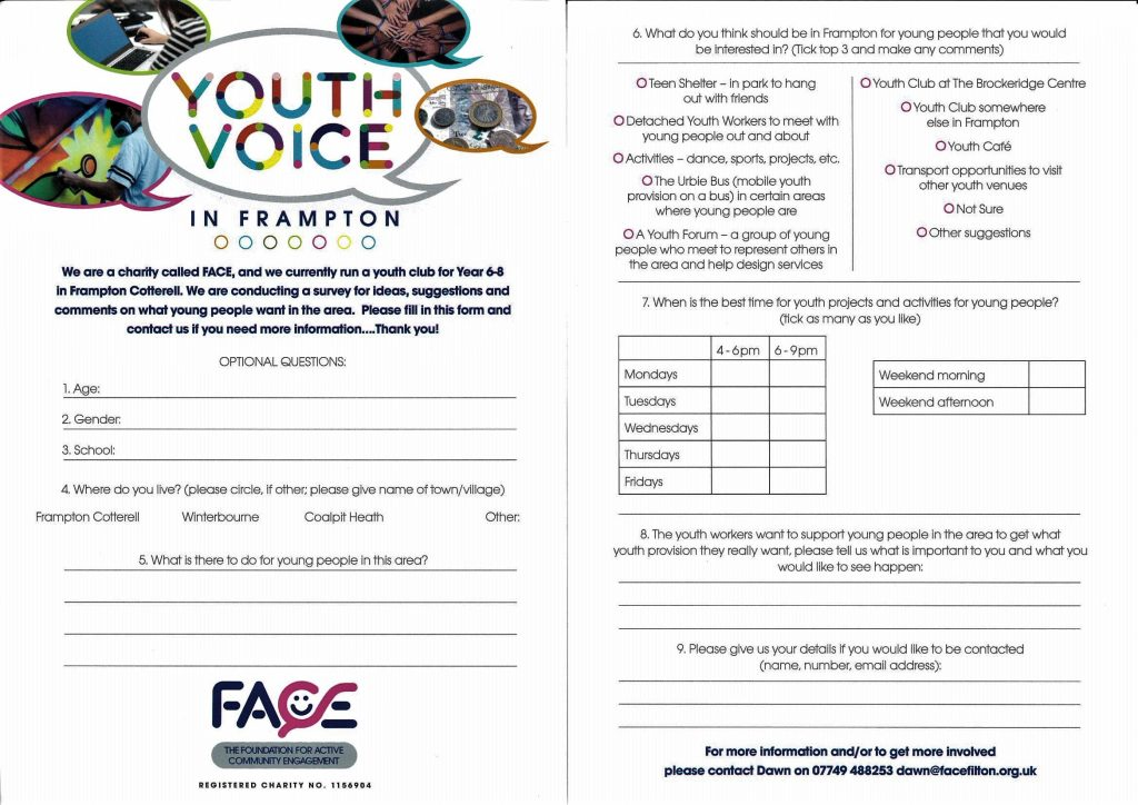 "Image of questionnaire. Further information can be found by downloading ""Youth Survey Printable"""