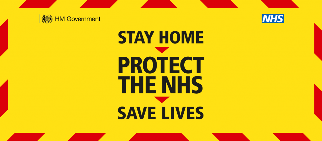 Stay Home protect the NHS save lives banner